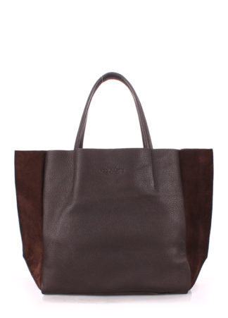 Кожаная сумка POOLPARTY Soho, soho-brown-velour