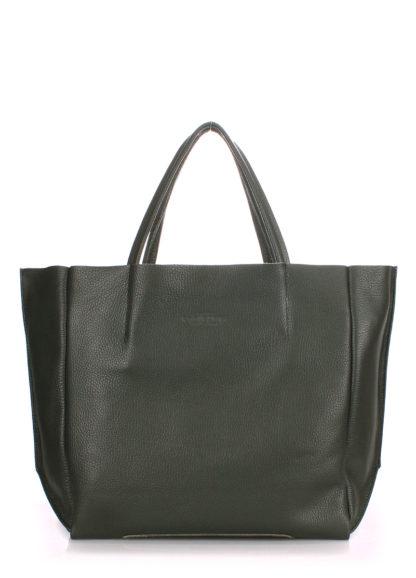 Кожаная сумка POOLPARTY Soho, soho-khaki