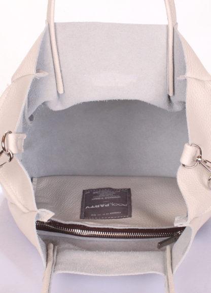 Кожаная сумка POOLPARTY Soho Remix, soho-rmx-beige