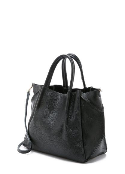 Кожаная сумка POOLPARTY Soho Remix, soho-rmx-black