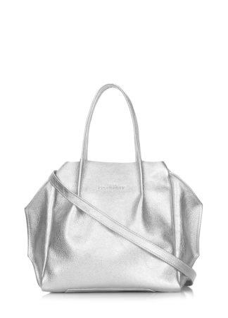 Кожаная сумка POOLPARTY Soho Remix, soho-rmx-silver