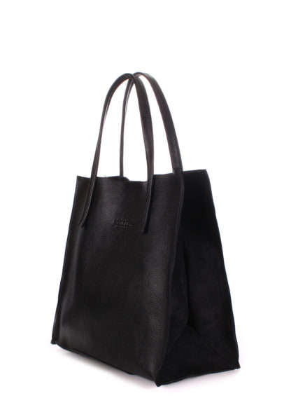 Кожаная сумка POOLPARTY Soho, soho-versa-black