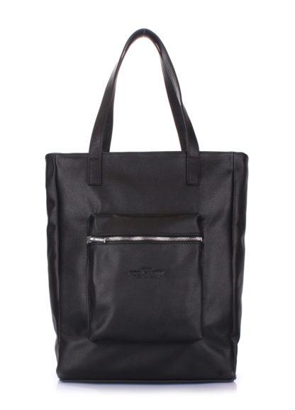 Кожаная сумка POOLPARTY Spirit, spirit-black