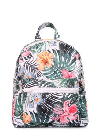 Рюкзачок XS с тропическим принтом белый
