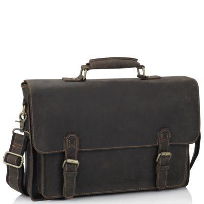 Кожаный мужской портфель из матовой кожи Tiding Bag 7205R