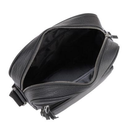 Черная кожаная мужская сумка через плечо Tiding Bag SM8-909A