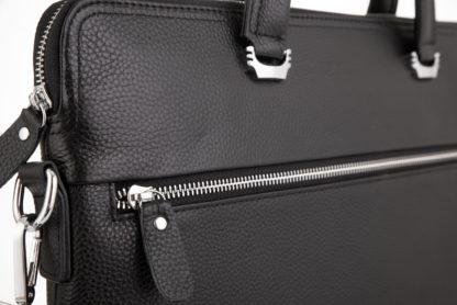 Черная кожаная сумка для ноутбука, документов Tiding Bag A25F-9157-1A