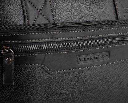 Сумка для ноутбука кожаная черная Allan Marco RR-4100A
