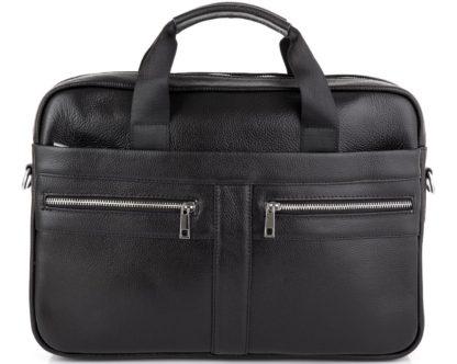 Сумка для ноутбука 14″ и документов из натуральной кожи черная Tiding Bag A25-1120A