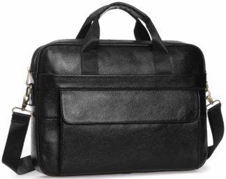 Деловая мужская сумка для ноутбука 16″ и документов А4 кожаная Tiding Bag A25-1131A