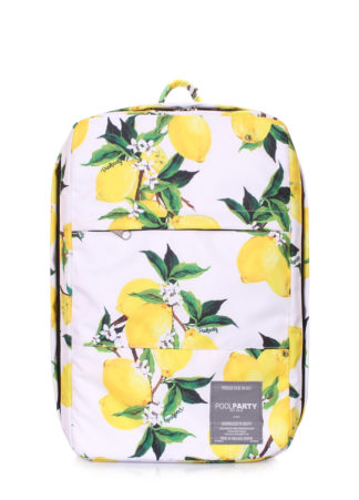 Рюкзак для ручной клади Ryanair, Wizz Air, МАУ (белый с лимонами)